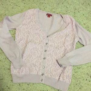 ⭐️3 for $30⭐️ merona lace detail cardigan